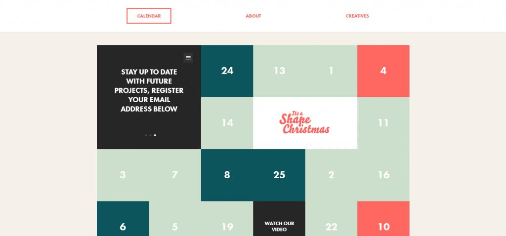 Interactive Advent Calendar   It s a Shape Christmas