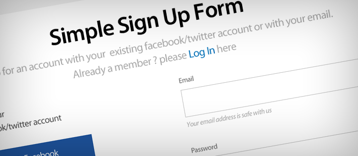 simple signup form web3canvas