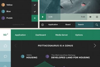 Square UI flat design user interface pack