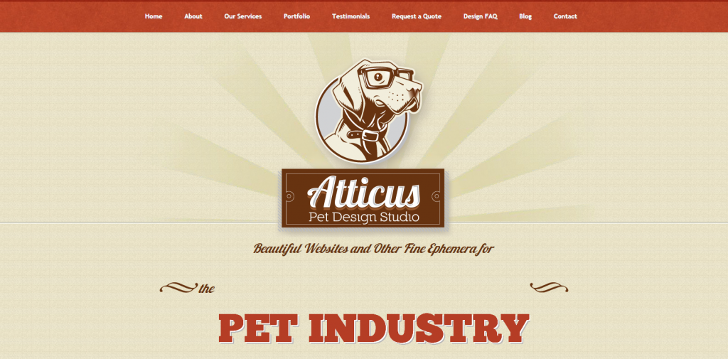 Atticus Pet Design Studio Pet Business Logo Print and Web Design Services