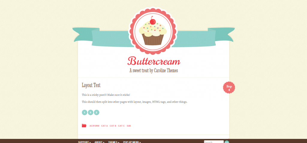 Buttercream   A sweet treat by Caroline Themes