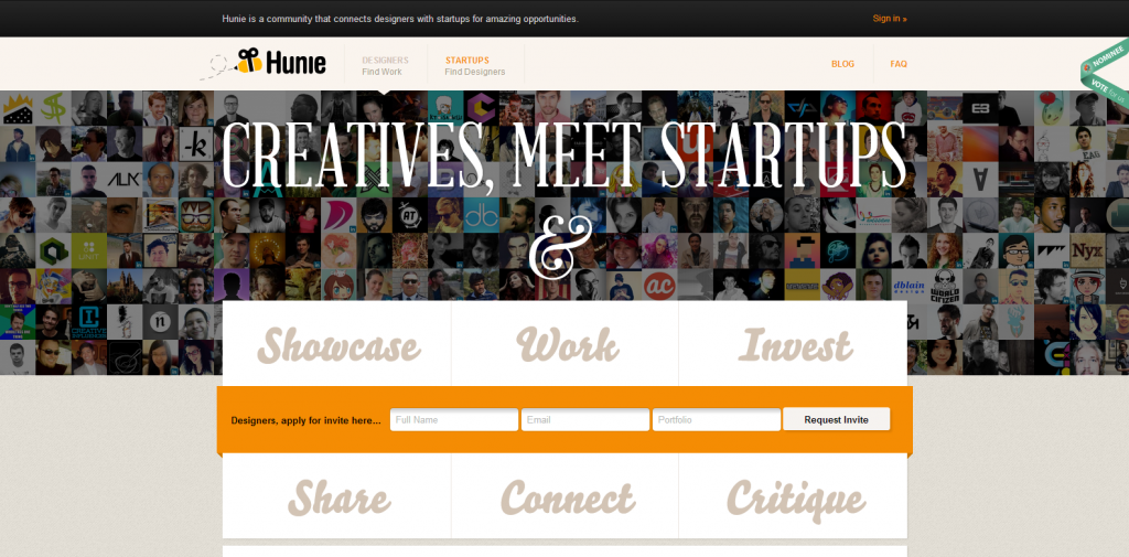 Connecting Designers to Startups   Hunie