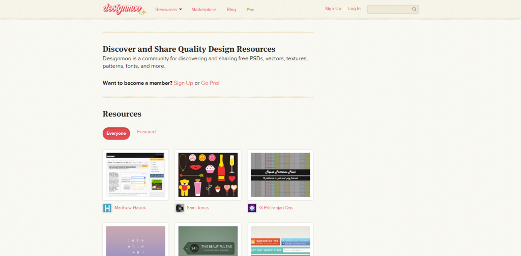 Designmoo   A community for discovering and sharing free PSDs  vectors  textures  patterns  fonts  and more.