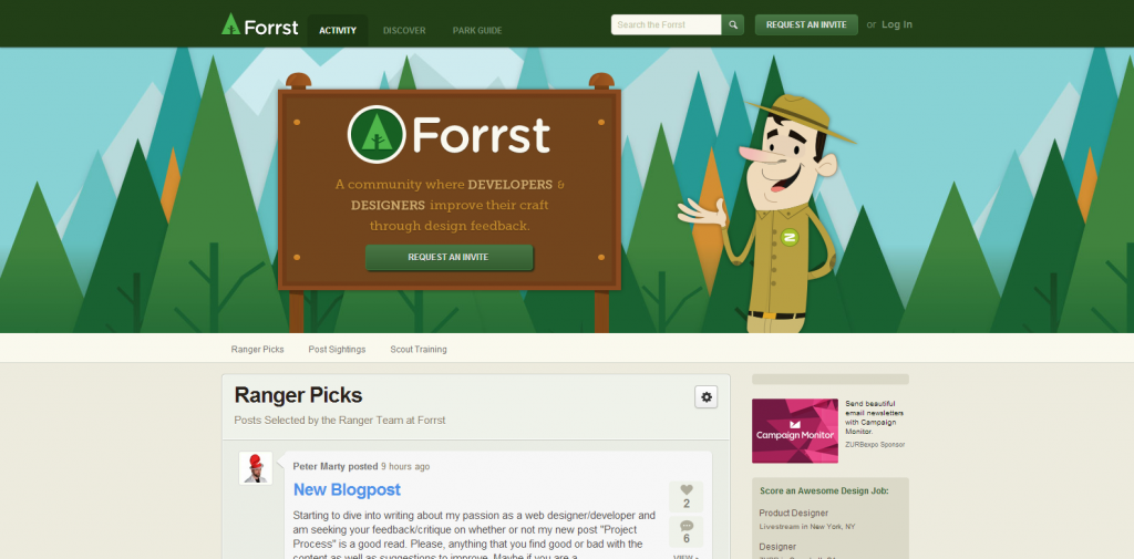 Forrst   A Community Where Developers   Designers Improve Their Craft