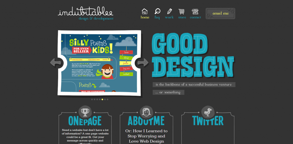 INDUBITABLEE Web design portfolio of Denise Chandler