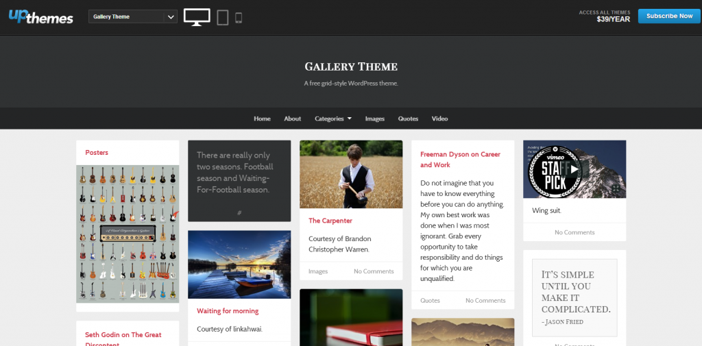 UpThemes Demos   Just another WordPress site