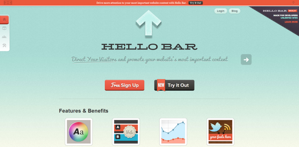 Web Toolbar   Get More Clicks with the Hello Bar Notification Bar
