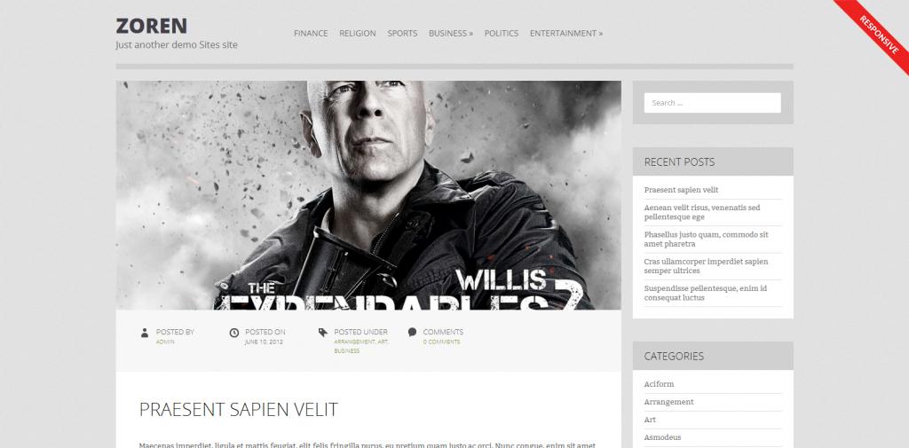 Zoren   Just another demo Sites site