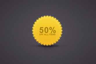 Rounded offer badge PSD