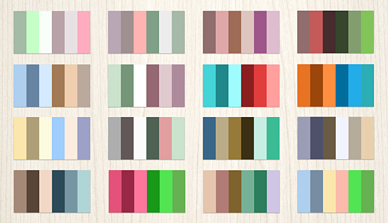 Collection Of Color Palettes Photoshop For Ui Designs Web3canvas