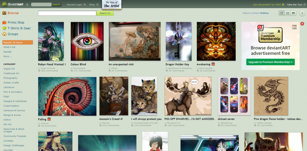 deviantART  where ART meets application