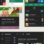 Square UI flat design user interface pack