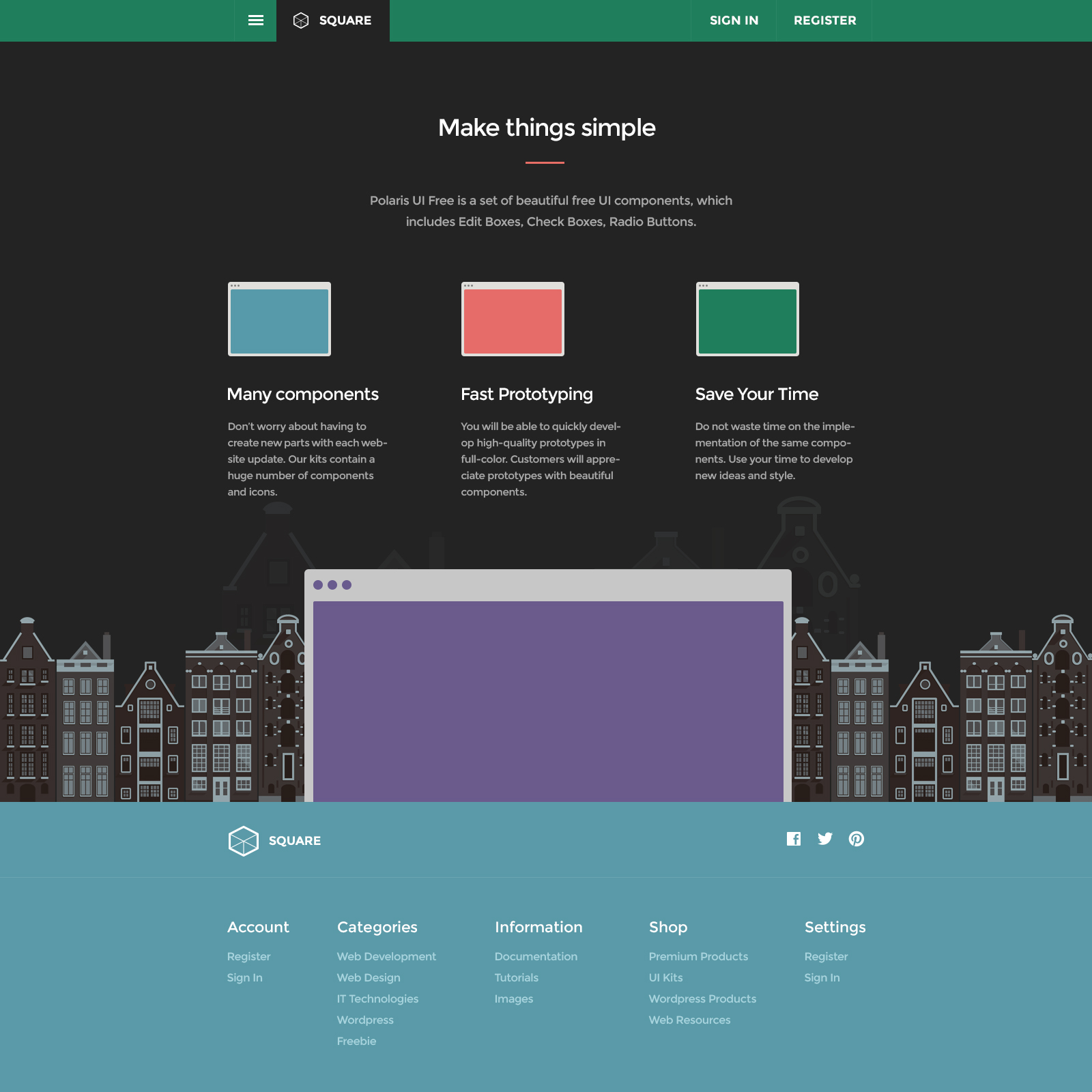 Collection of color palettes photoshop for ui designs web3canvas -  Square Ui Flat Design User Interface Pack