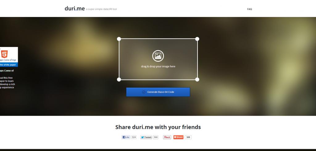 'A beautifully simple image-to-DataURI converter - Duri_me' - duri_me