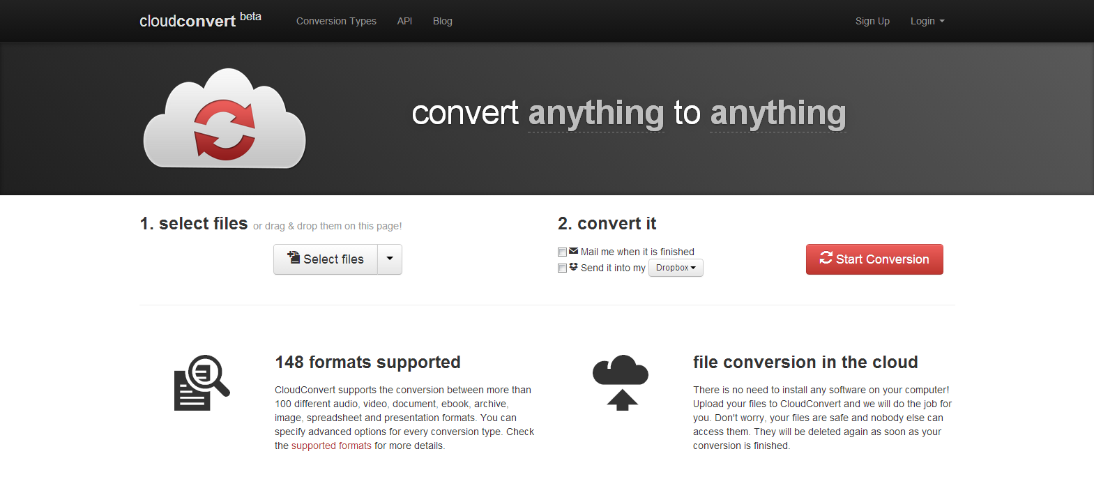 CloudConvert convert anything to anything