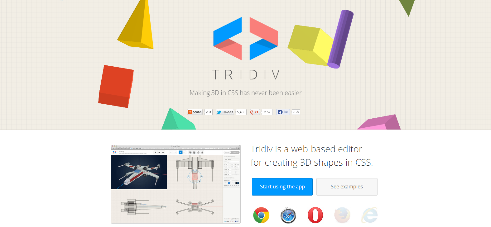 Tridiv CSS 3D Editor