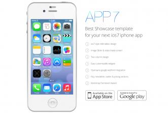 iOS 7 App Landing Template PSD