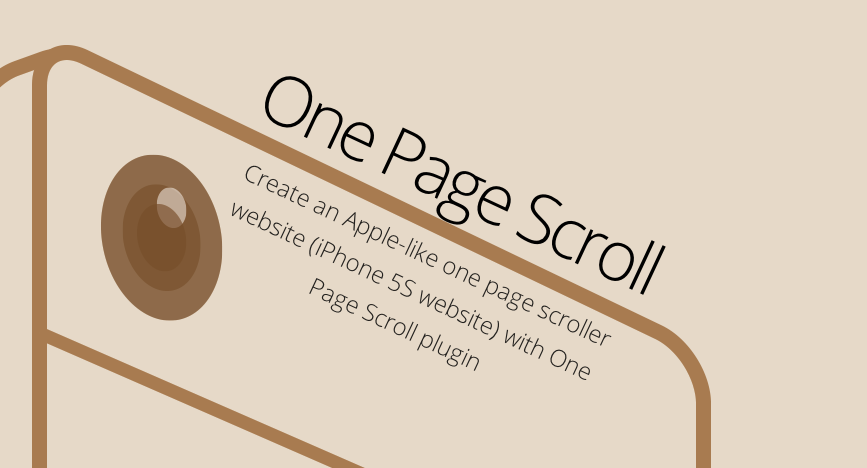 onepage scroll like apple