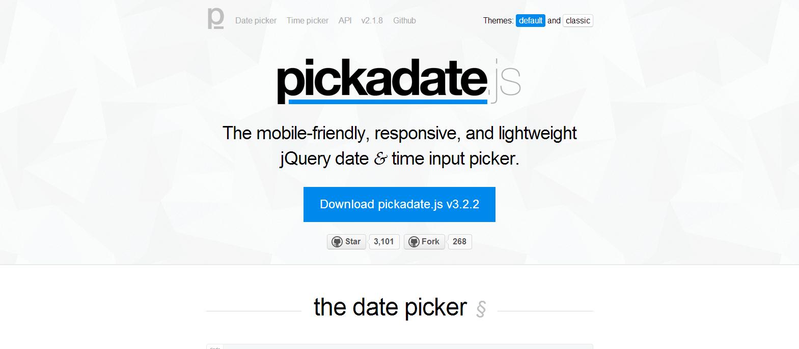 pickadate.js