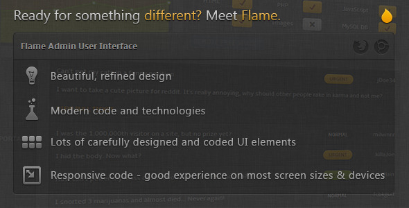 Flame Admin User Interface