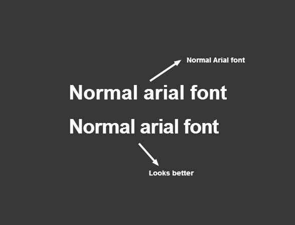Make Arial Headings looks better