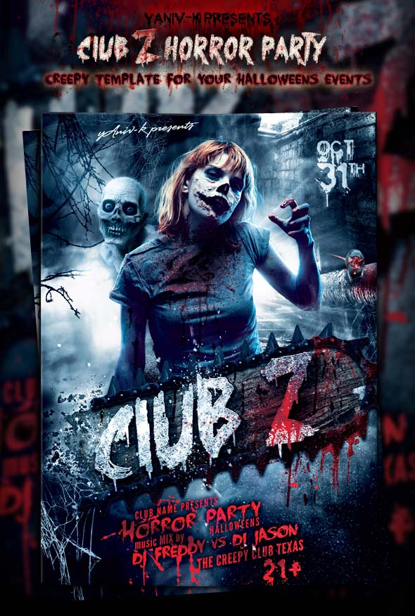 club-z-halloween-poster