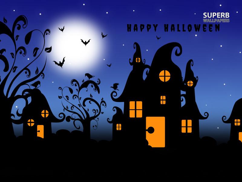 happy-halloween-ghost-house-wallpaper