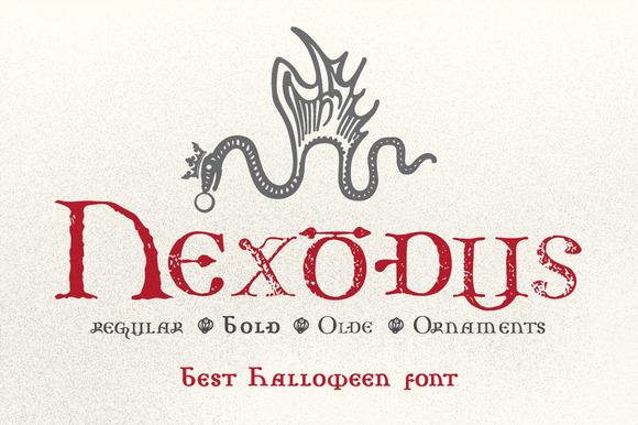 nexodus-halloween-font