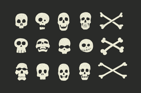 vector-skulls-crossbones-shape-halloween