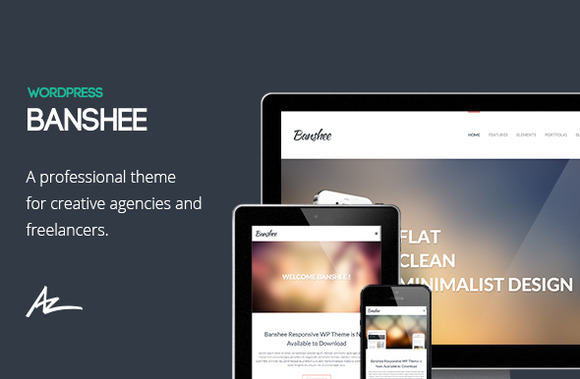 Banshee Portfolio WordPress Theme