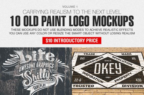 Old Paint Logo Mockups