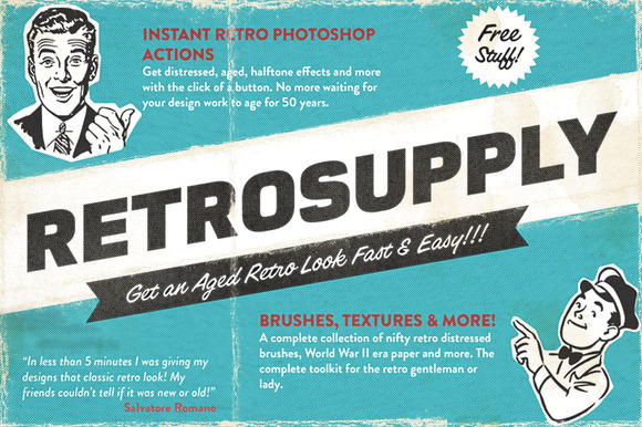RetroSupply-Retro Photoshop Kit