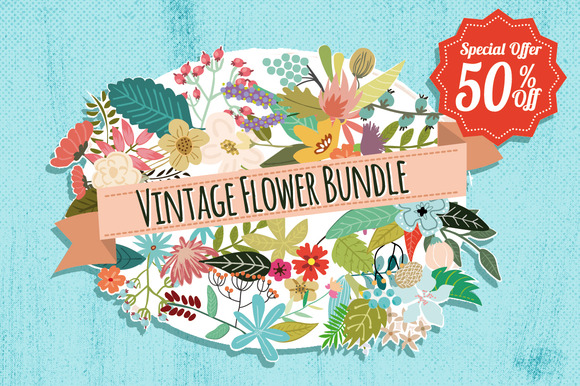 Vintage Flowers Bundle