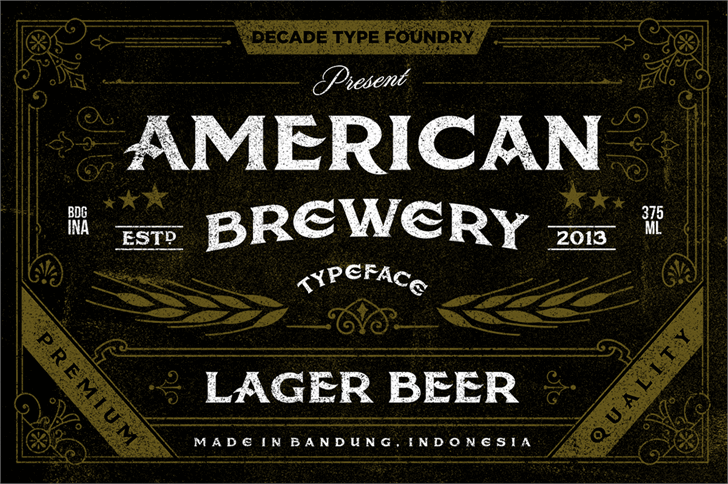 american-brewery-font