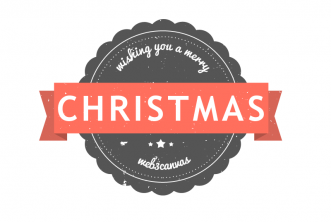 Christmas Retro Badge PSD