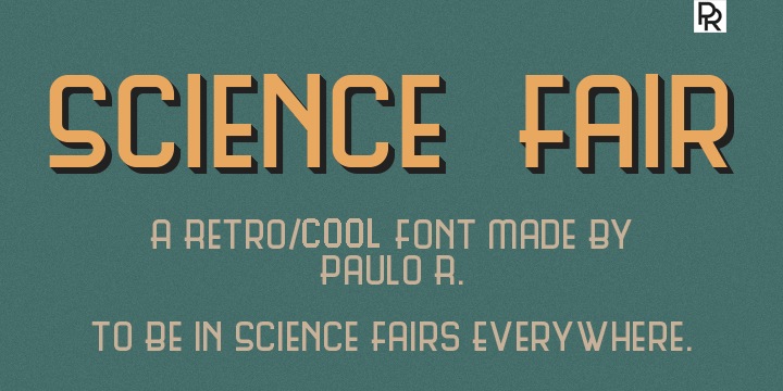 science-fair-vintage-retro-font