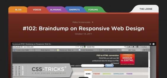 102  Braindump on Responsive Web Design   CSS Tricks
