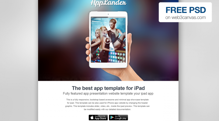 AppLander – Free PSD Web Template