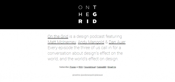 On The Grid   Design Podcast