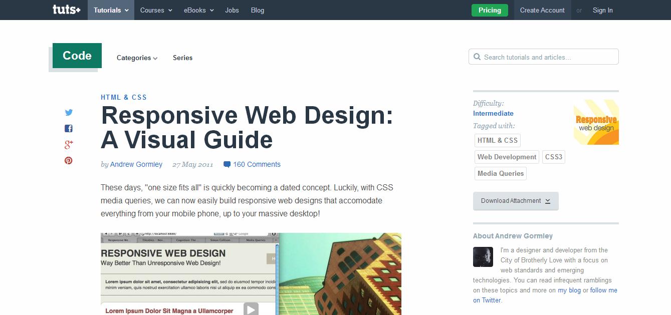 Responsive Web Design A Visual Guide Tuts Code Tutorial Web3canvas