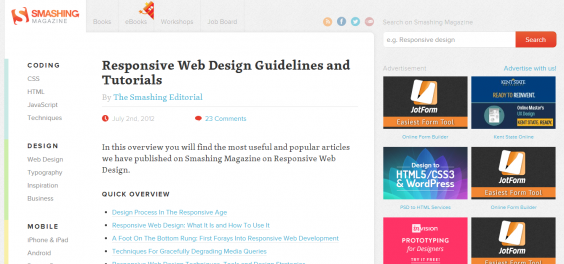 Responsive Web Design Guidelines and Tutorials   Smashing Magazine