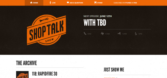 ShopTalk  A Web Design and Development Podcast