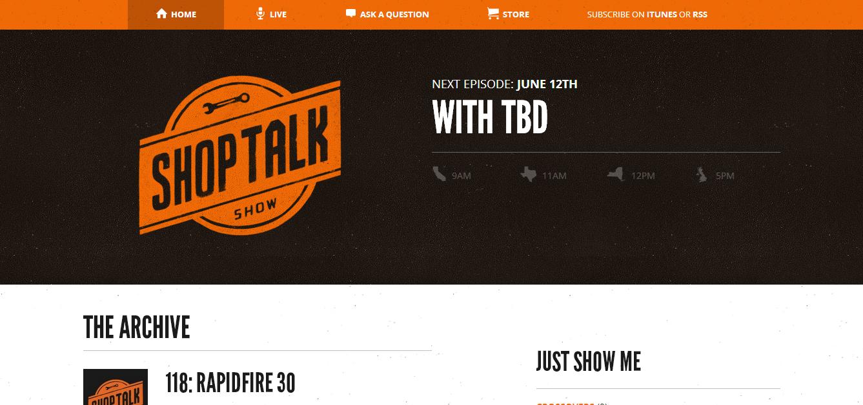 best podcast website design