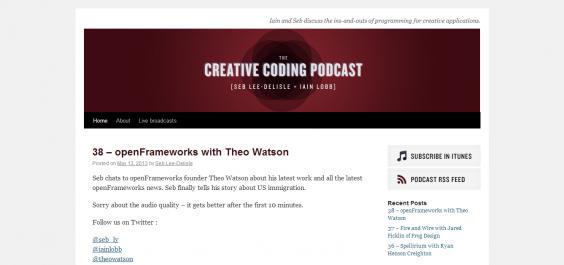 The Creative Coding Podcast.