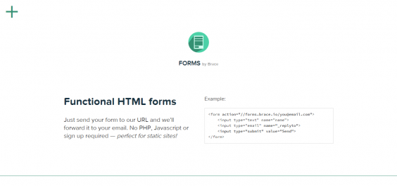 Brace Forms   Functional HTML forms