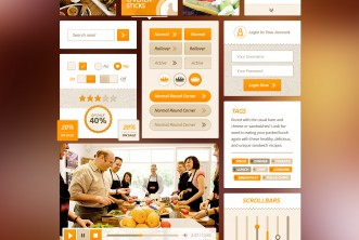 Food UI Kit Free PSD