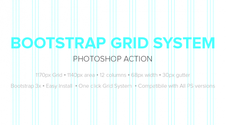 Bootstrap Grid System Photoshop Action – 1170px