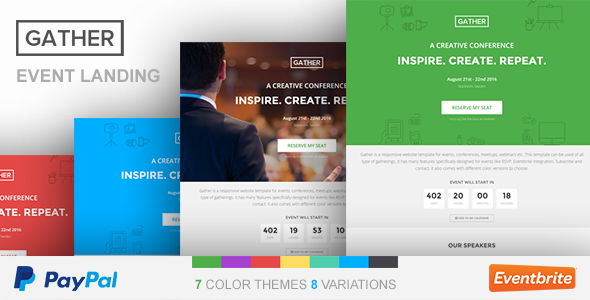 Event Landing Page Design Best Gather