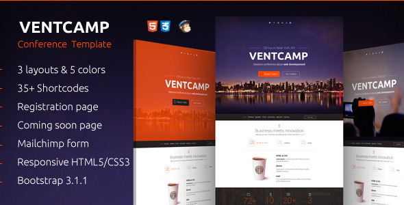 Event landing page templates best of best handpicked ventcamp event landing pronofoot35fo Image collections