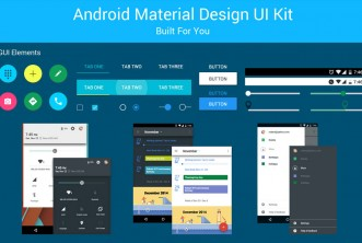 Android Material Design UI Kit – Free PSD